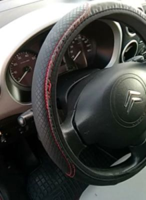 Premium Leather Steering Wheel Cover photo review