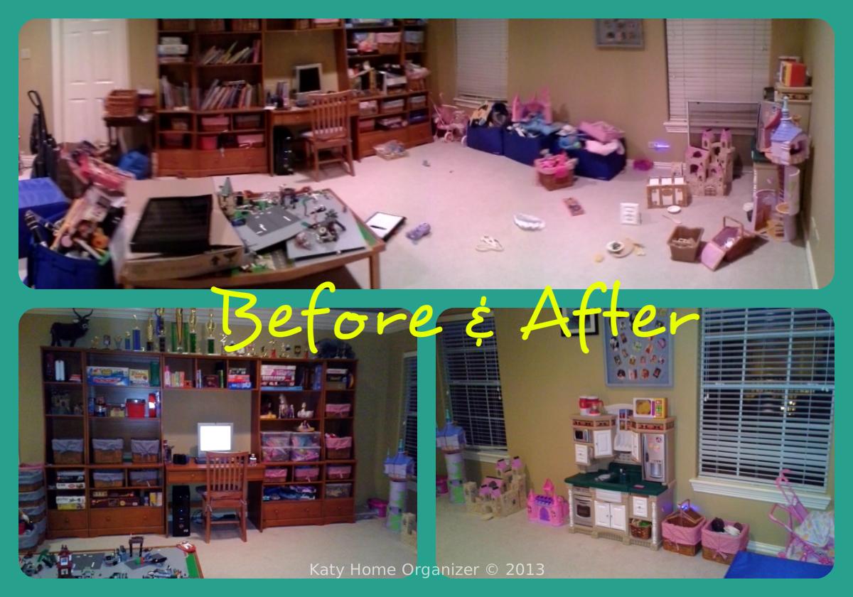 Playroom Organization Before & After Pics
