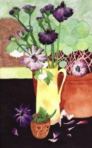 Watercolour Flower Painting: Ranunculus, Verbena
