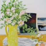Watercolour Painting: Wild Roses In My Studio