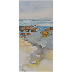 Surf and Shallows Berrys Beach Watercolour Painting