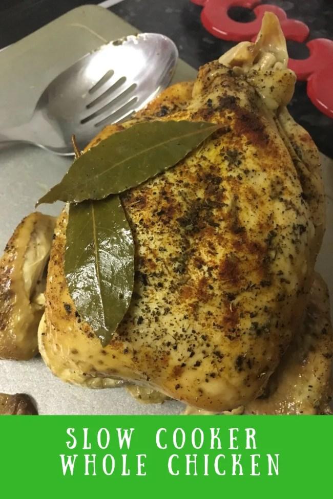 My Slow cooker whole chicken uk recipe is a simple way to prepare a roast dinner. #roastdinner #slowcooker #wholechicken #chickenroast #chickendinner