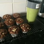 My super simple and delicious triple chocolate muffins
