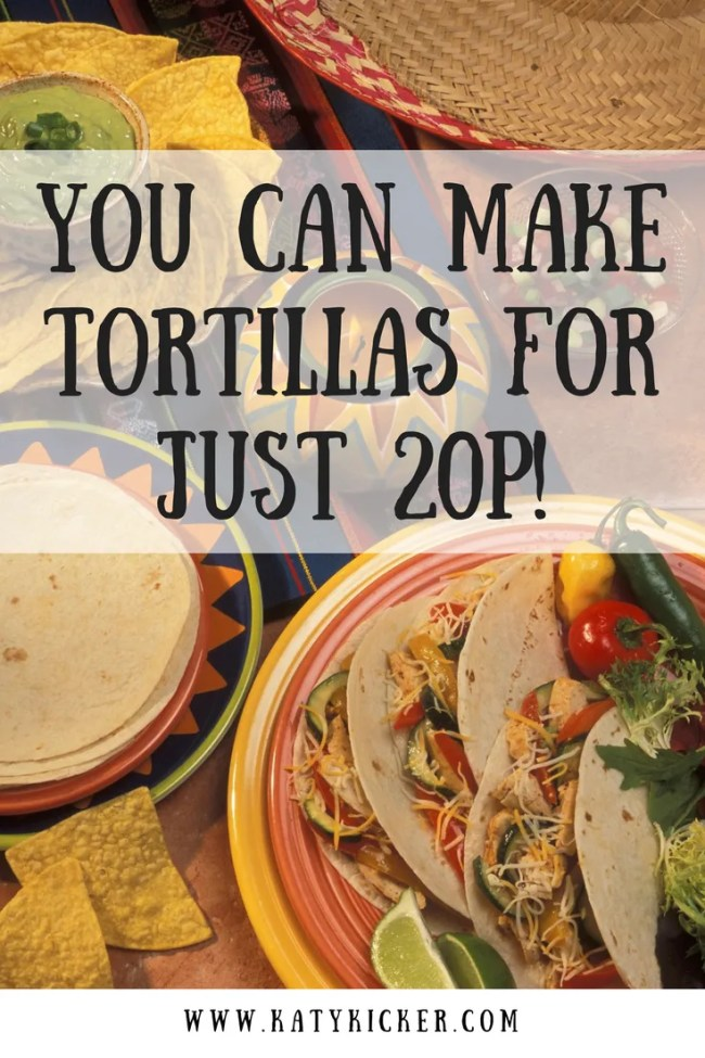 Super simple, delicious and easy tortillas that cost just 20p per batch! Cheap eats, frugal food, bargain dinners