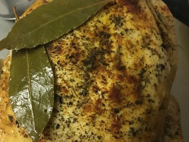Rubber roast chicken