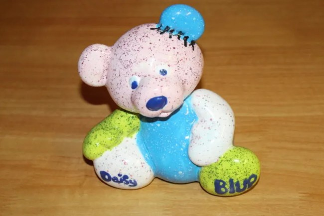 Pottery painting at Centerparcs - A photograph of the bear that we painted