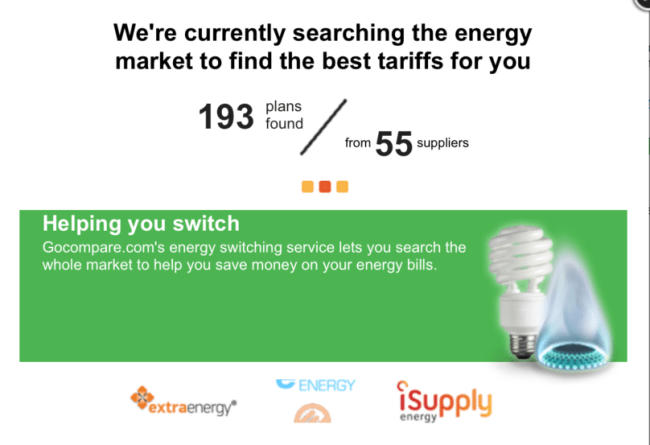 Switching energy tariffs - A look at the search comparison tool in action