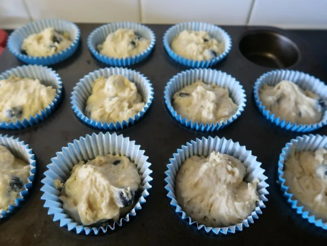 Dairy free blueberry muffins recipe - The muffins before cooking