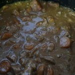 Slow cooker beef casserole - A look at the dinner once the flour has been added
