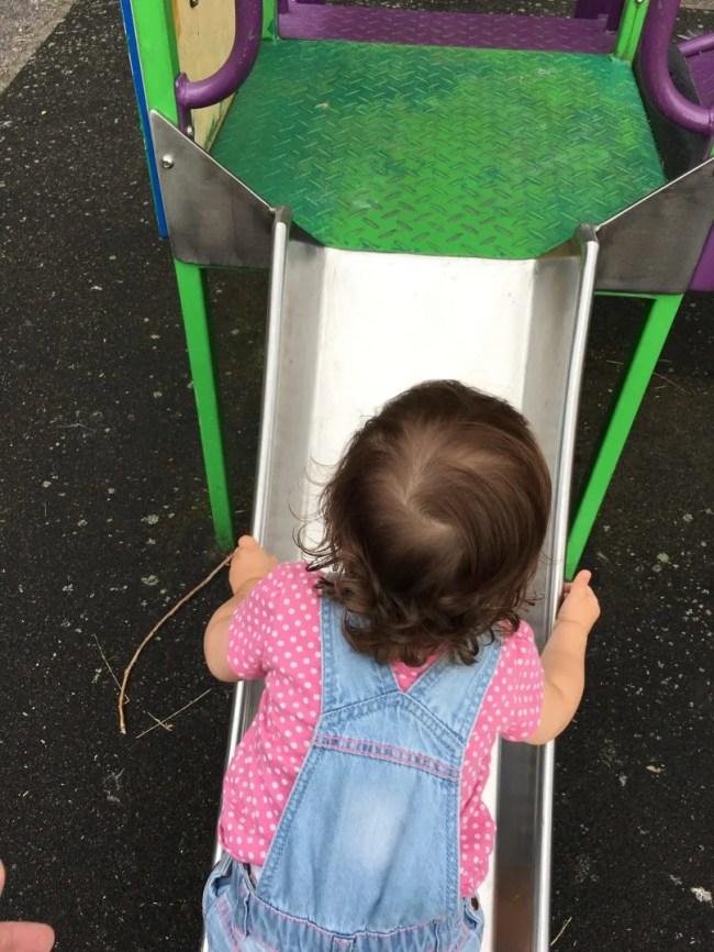 Living Arrows 35/52 - Daisy climbing up the slide