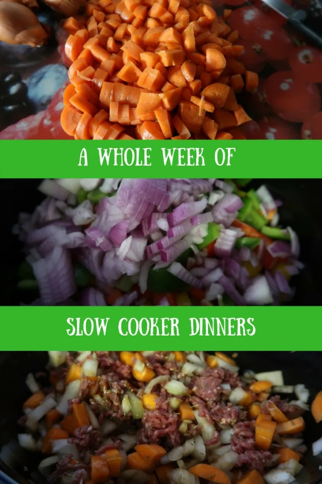 A week of slow cooker dinners to help you get organised, meal plan, save money on groceries and have a nice hot dinner every night