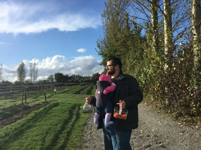 Pumpkin picking - Cammas Hall - Daddy and Daisy