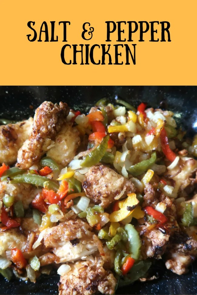 How to make salt and pepper chicken in just minutes. Frugal, fakeaway, money saving takeaway, Chinese recipe