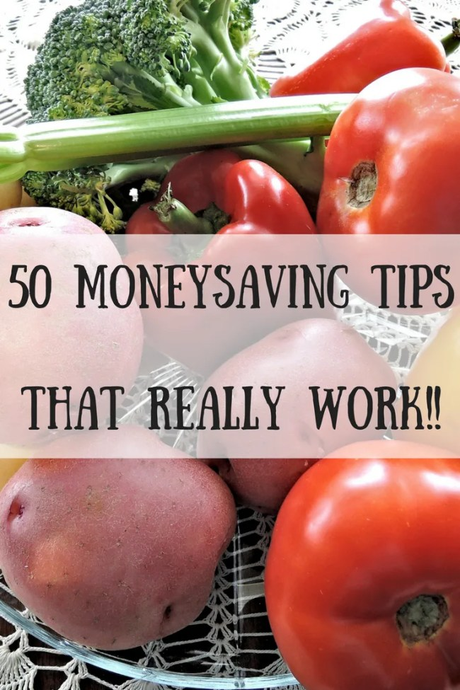 50 moneysaving tips that actually work! Save money, make your grocery shop go further, be more organised and feel better about your financial health with these frugal tips