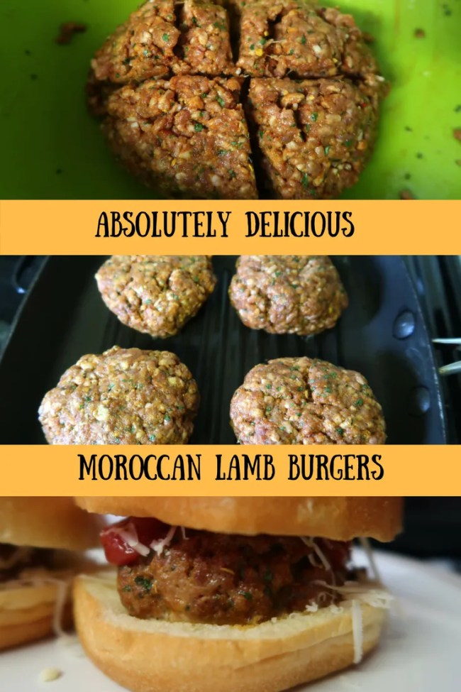 Frugal and delicious Moroccan lamb burgers. Ready in under 30 minutes. Cheap eats, delicious takeaway style home cooking, frugal food