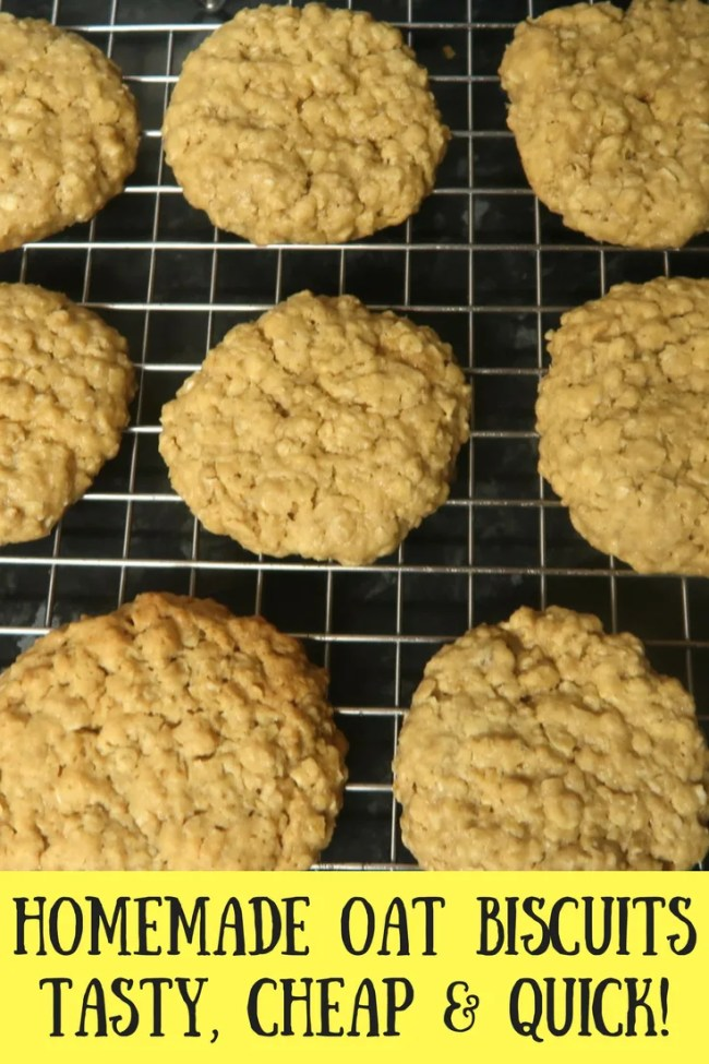 Homemade oat biscuits. Prepped in 5 minutes and baked in just 10 minutes these homemade oat biscuits are similar to hobnobs!