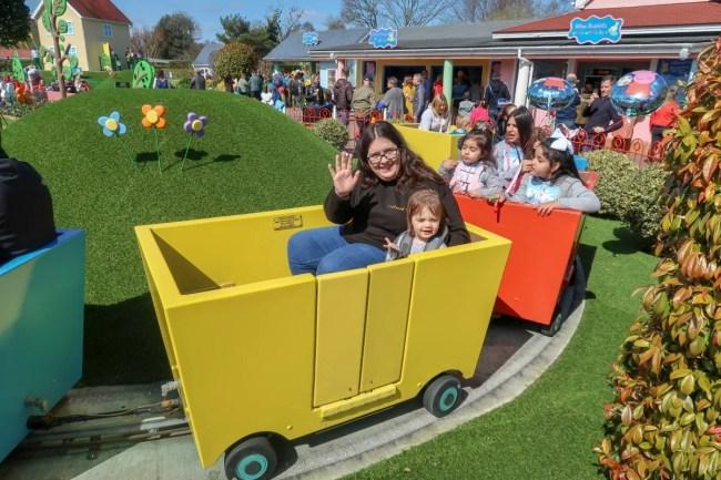 A family trip to Peppa Pig World - Grandpa Pigs train