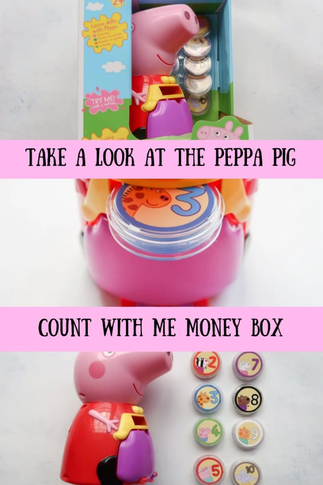 We've been practicing counting, number recognition and colour recognition with the Peppa Pig Count with Peppa Interactive Money Box #toys #family #parenting #fun #peppapig