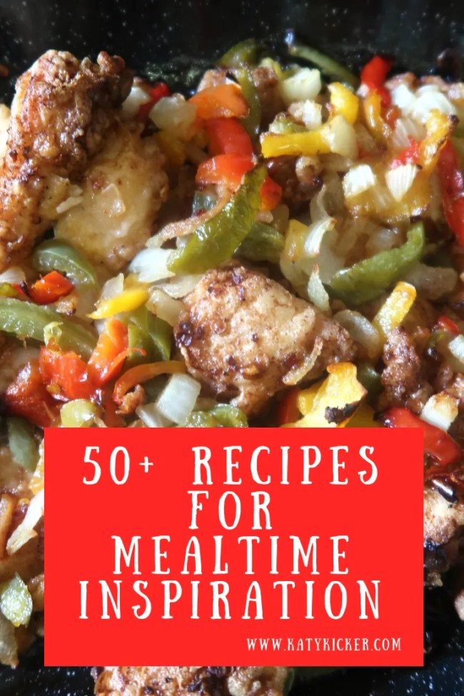 50+ recipes for mealtime inspiration. Frugal dinners, slow cooker meals, side dishes in your slow cooker, easy bakes & delicious desserts. #slowcooker #cheapeats #frugal #dinner #sidedishes #mealplan