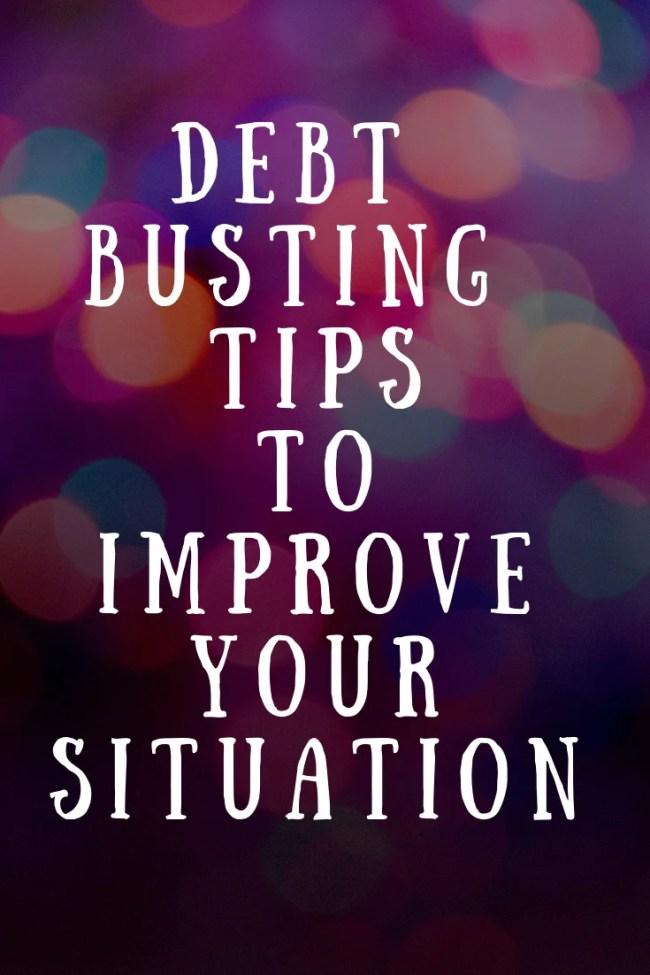 Debt busting tips to improve your situation #money #finances #personalfinance #debt #debttips #tips #moneysaving