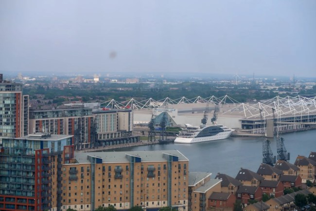 A view from the emirates airline cable car