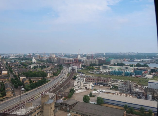 View from the emirates airline cable car