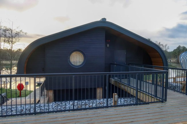 Centerparcs Waterside Lodge Review - A look at the front of Waterside lodge