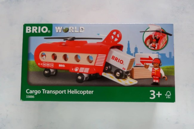 A look at the pilot inside the Brio Cargo Transport Helicopter