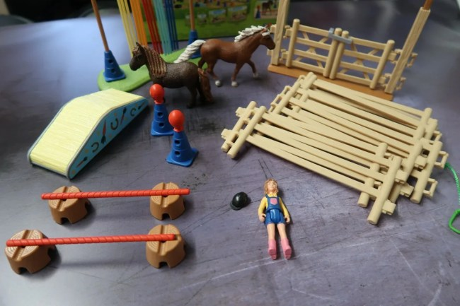 Schleich Pony Agility Training Items
