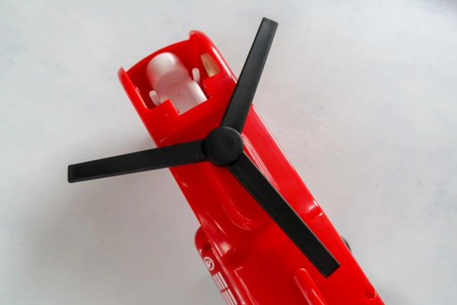 The rotor of the Brio Cargo Transport Helicopter