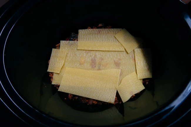 Slow cooker vegetarian lasagne recipe - Lasagne sheets