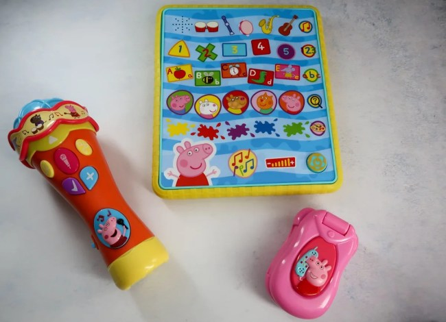 Peppa Pig Microphone, Smart Tablet and Flip & Learn phone
