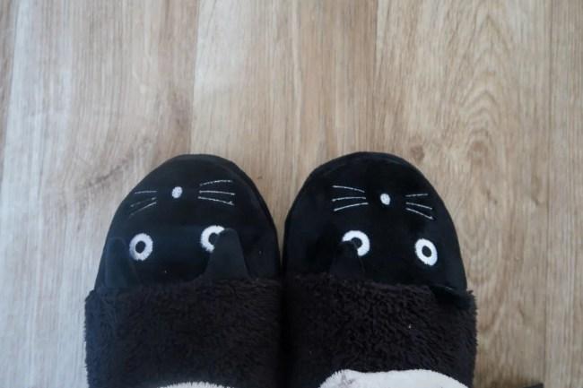 Super cute cat slippers from Tuk