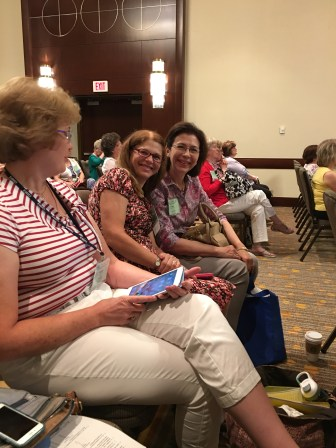 (L-R) Kay Lowry and Nancy Stevenson enjoying a session.
