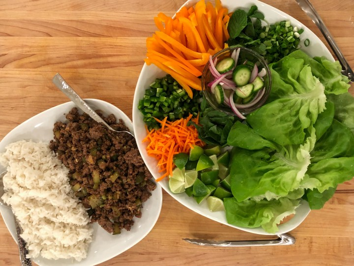 family style beef lettuce wraps