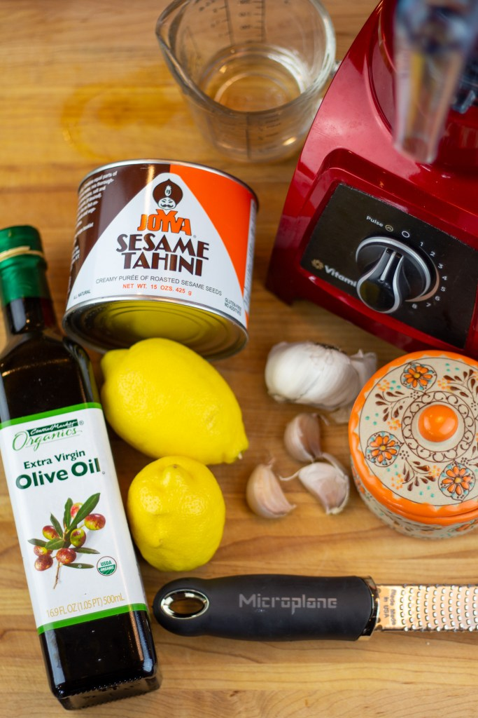ingredients for Lemon Tahini Dressing
