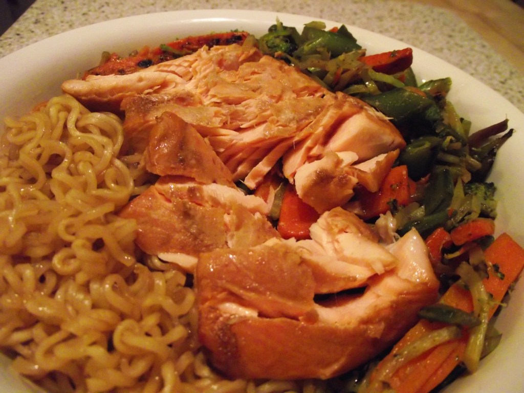 Mamas Favorite Dinner  SoyGlazed Salmon with Noodles