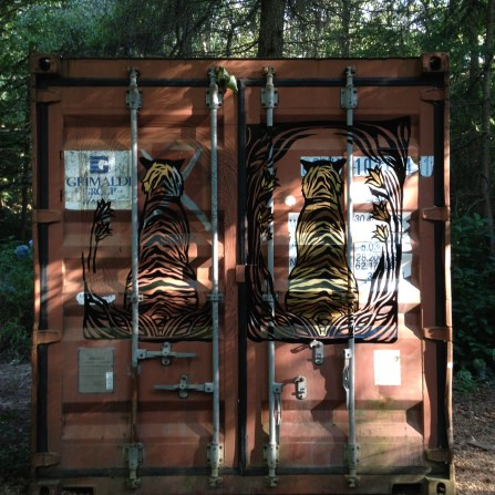 I was commissioned by Bestival to create a hand drawn logo design and hand painted exterior artwork for the fabulous Blind Tiger Bar. As the new 'hidden' venue for 2015, my illustration was to be used to draw the crowd in by spotting the tiger in the woods, leading them inside!