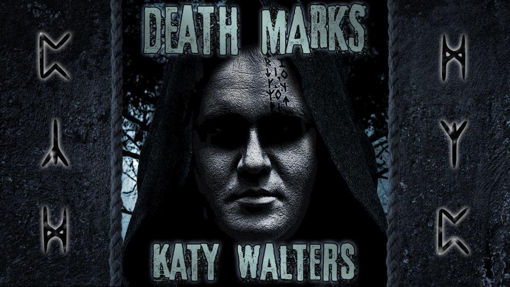 Katy Walters author free book novel. Death Marks, crime, druids, tattoos.