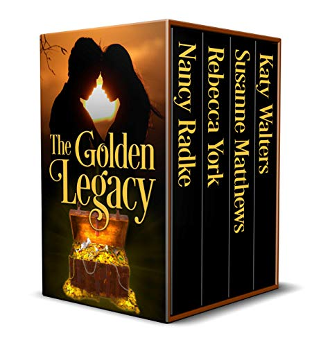 The Golden Legacy box-set. Five stories by Nancy Radke, Rebecca York, Susanne Matthews, Katy Walters. Pirate treasure and romance.