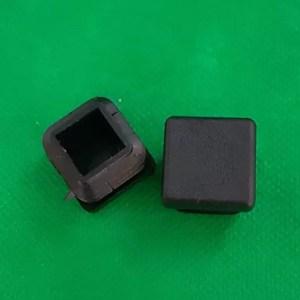 Endkappe schwarz Lamellenstopfen schwarz
