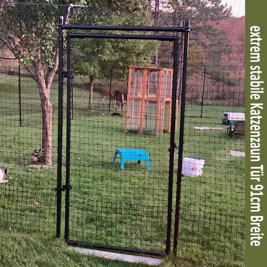 stabile Tür Katzenzaun Rahmentür