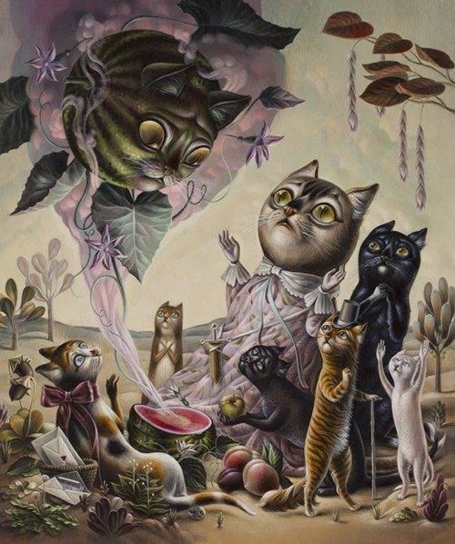 interesting cat art