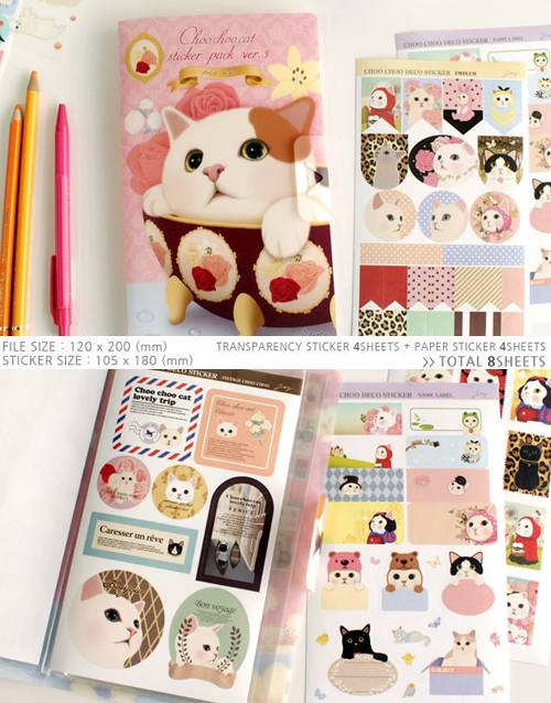 Korean-Jetoy-Cat-Sticker-Diary-Pack-Set-BPINK02