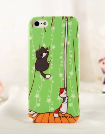 Niconico-Cat-Killing-Curtains-iPhone5-Cover-01