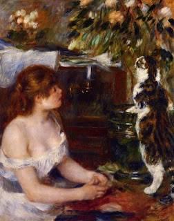 Pierre-Auguste-Renoir-Girl-and-Cat-Oil-Painting