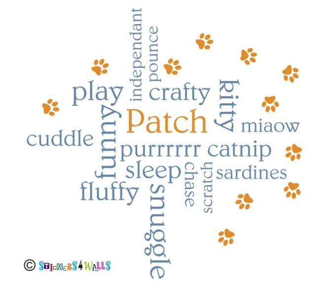 word cloud cat