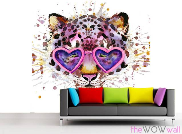 funky-cat-wall-mural