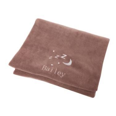 personalised-snooze-pet-blanket-in-chocolate_12-95_petspyjamas