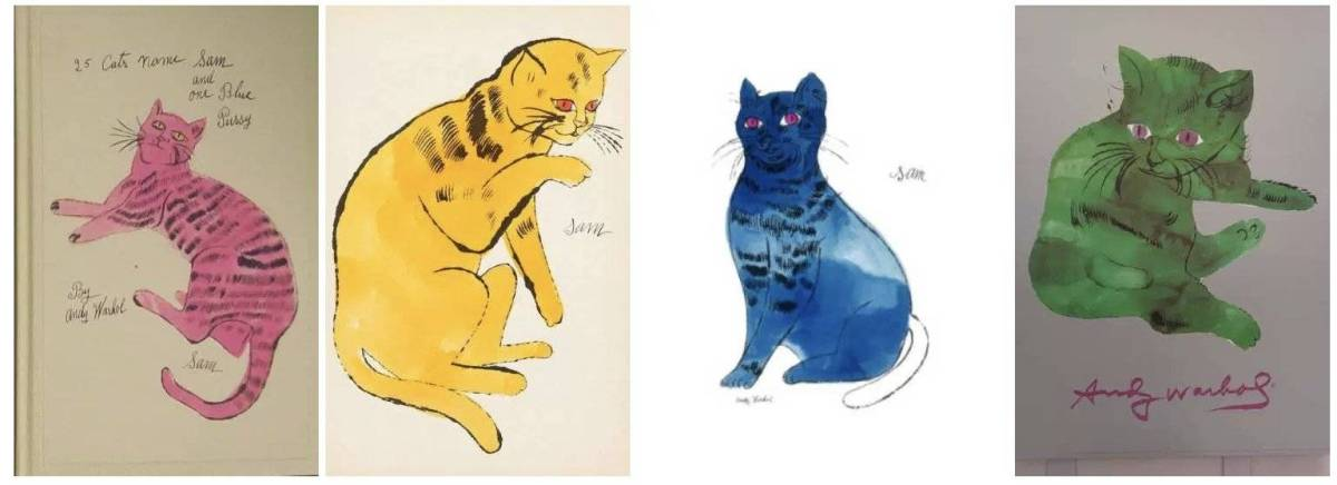 Friday Art Cat - Andy Warhol (1928-1987)